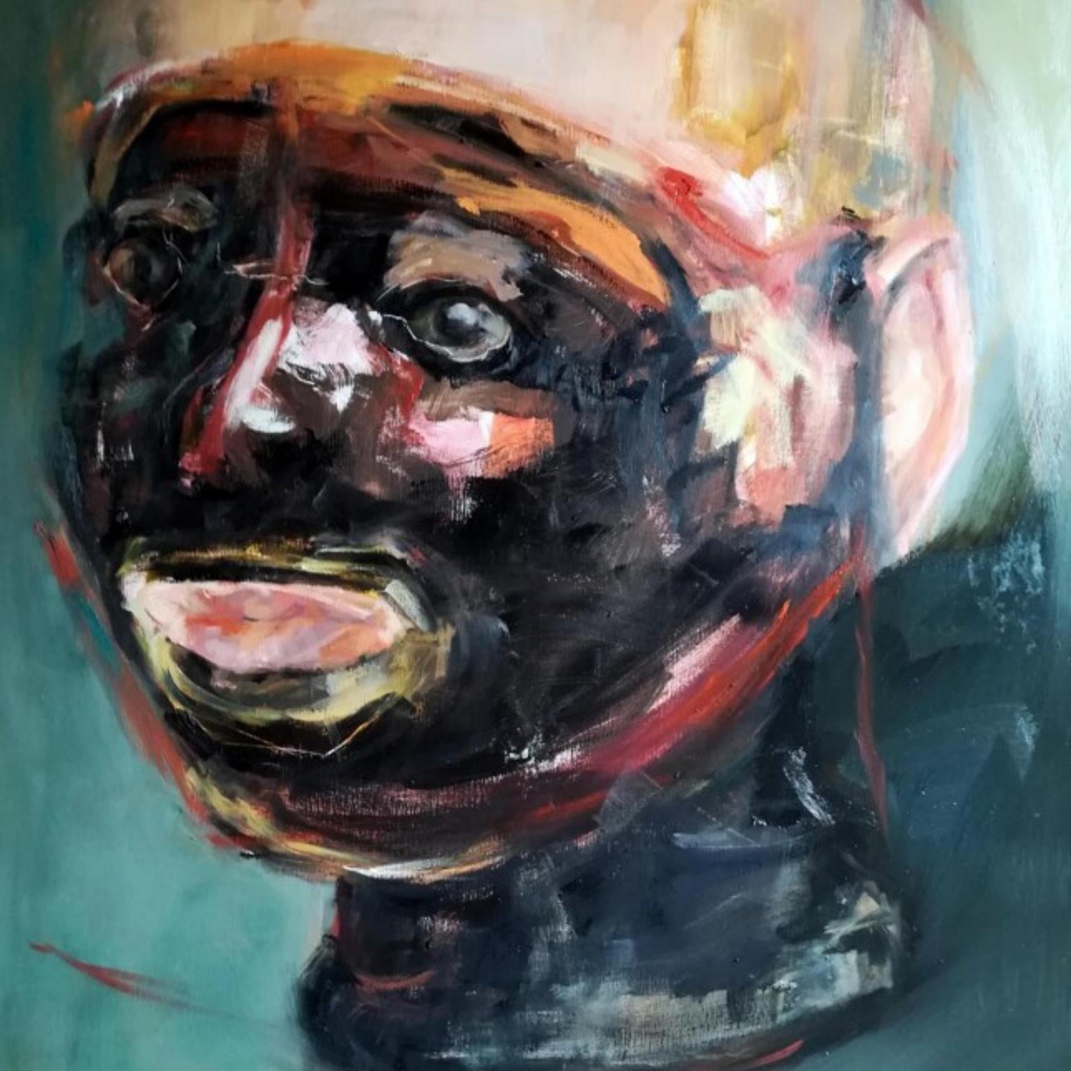 grote abstracte schilderij